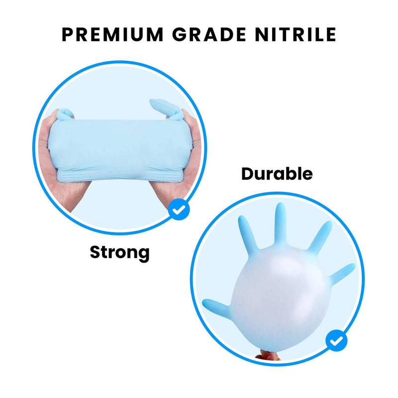 Nitrile Gloves Nitrile Exam Gloves, Powder Free, Large (100 Pack) In stock