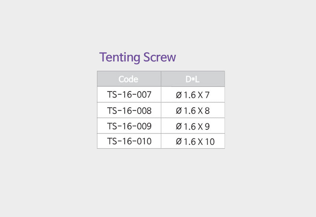 Titanium Tenting Screws (TS)