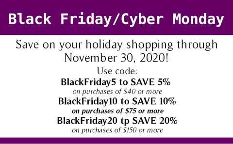 Black Friday/Cyber Monday Discount Codes