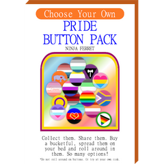 Choose Your Own Button Pack!  LGBTQIA2S+ Pride Buttons