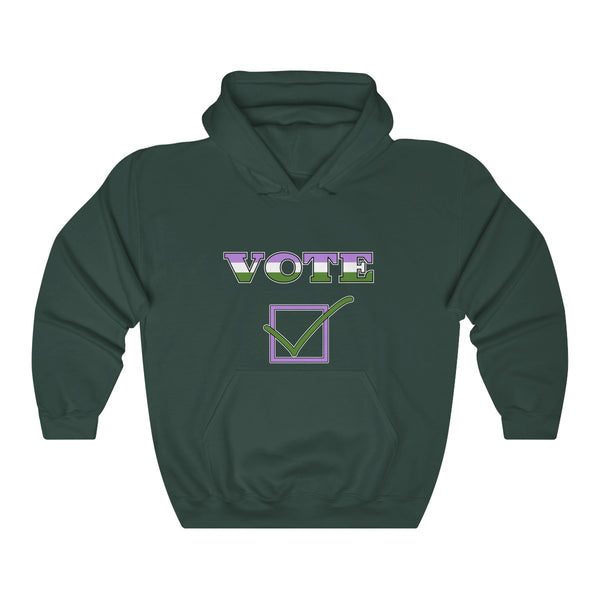 VOTE - Genderqueer | Unisex Heavy Blend™ Hooded Sweatshirt - Ninja Ferret