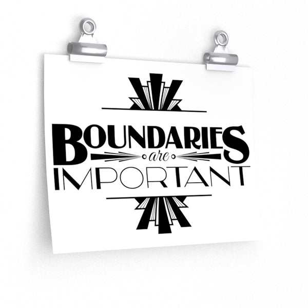 Boundaries Premium Matte horizontal posters - Ninja Ferret