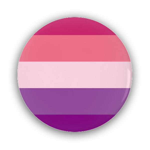 Aceflux Pride Flag (V2) Pin-Back Button - Ninja Ferret