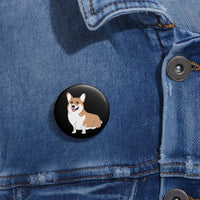 Happy Corgi Pin Buttons - Ninja Ferret