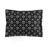 White/Black Baphomet Pattern Microfiber Pillow Sham - Ninja Ferret