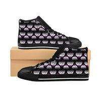 Heart of Hearts Men's High-top Sneakers - Asexual/Black - Ninja Ferret