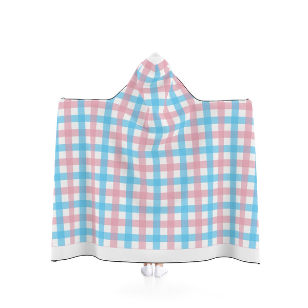 Transgender Plaid Hooded Blanket - Ninja Ferret