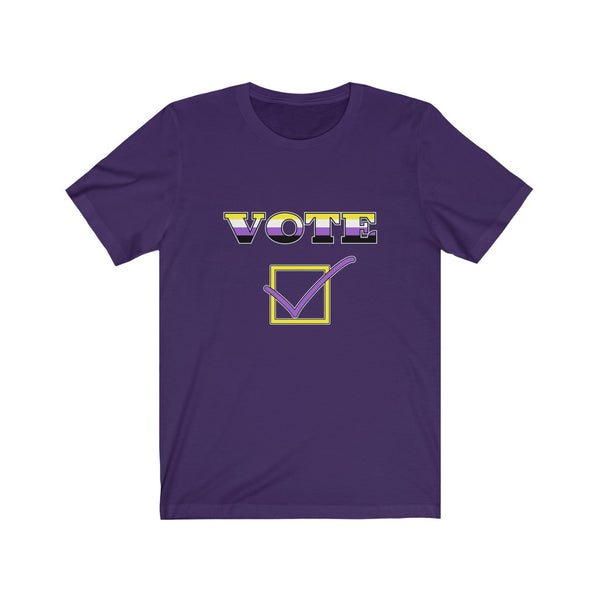 VOTE - Nonbinary | Unisex Jersey Short Sleeve Tee - Ninja Ferret