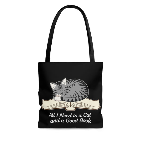 All I Need is a Cat and a Good Book Tote Bag - Ninja Ferret