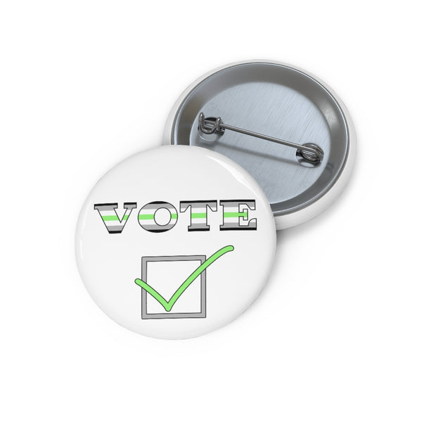 Vote v2 Agender | Pin Buttons - Ninja Ferret