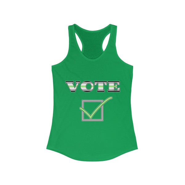 VOTE - Agender | Ideal Racerback Tank (Fem Cut) - Ninja Ferret