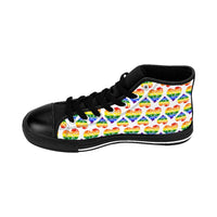 Heart of Hearts Men's High-top Sneakers - Rainbow/White - Ninja Ferret