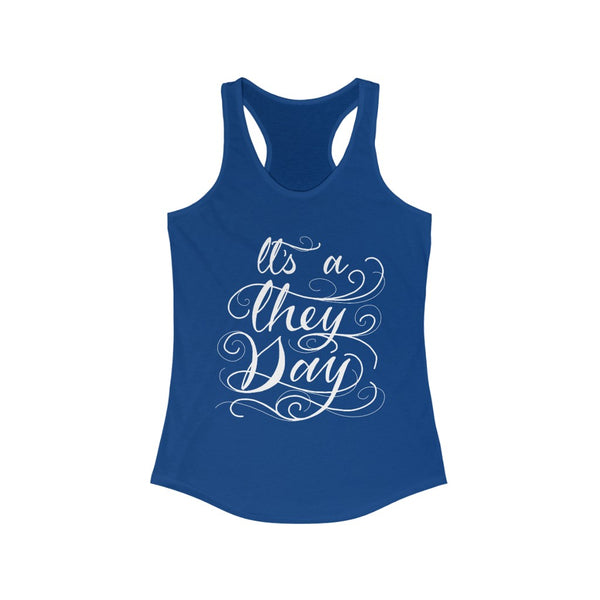 They Day Ideal Racerback Tank (Fem Cut) - Ninja Ferret