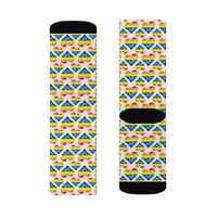 Heart of Hearts Socks - Rainbow/White - Ninja Ferret