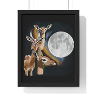 Three Gerenuk Moon Premium Framed Vertical Poster - Ninja Ferret