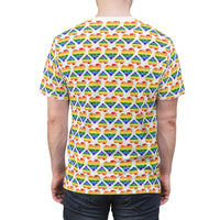 Heart of Hearts Unisex Tee - Rainbow/White - Ninja Ferret