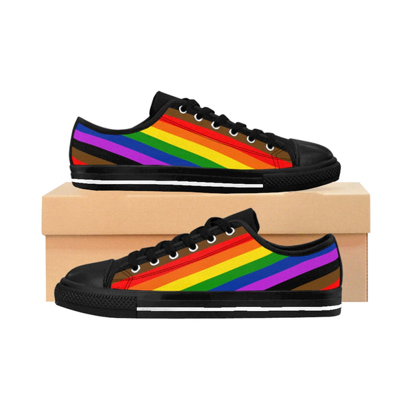 Pride Rainbow Striped Men's Sneakers - Ninja Ferret