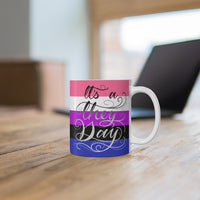 They Day - Genderfluid Pride Mug 11oz - Ninja Ferret