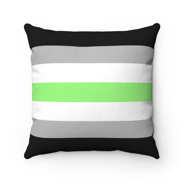 Agender Pride Square Pillow - Ninja Ferret