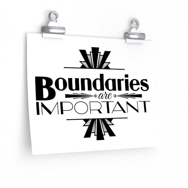 Boundaries v.2 Premium Matte horizontal posters - Ninja Ferret