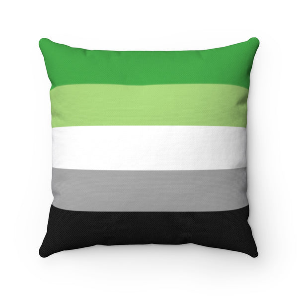 Aromantic Pride Square Pillow - Ninja Ferret