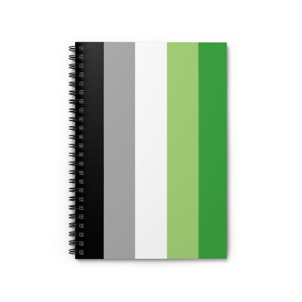 Aromantic Flag Spiral Notebook - Ruled Line - Ninja Ferret