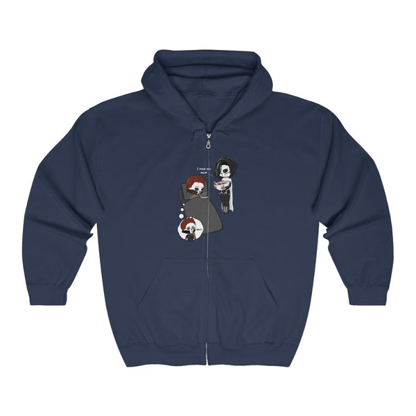 Soup Unisex Heavy Blend™ Full Zip Hooded Sweatshirt - Ninja Ferret