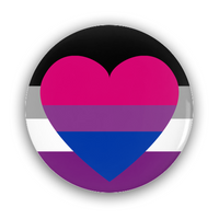 Biromantic Asexual Pride Flag Pin-Back Buttons - Ninja Ferret