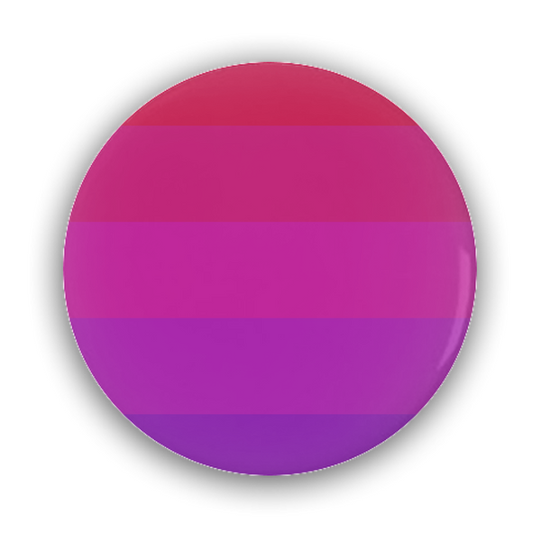 Aceflux Pride Flag (V1) Pin-Back Button - Ninja Ferret
