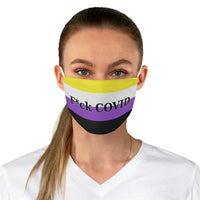 F*ck COVID - Nonbinary Pride | Fabric Face Mask - Ninja Ferret