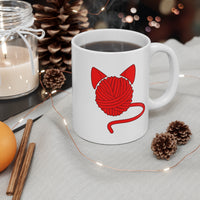 Kitty Yarn Ball Mug 11oz - Ninja Ferret