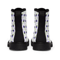 Pansy Patterned Men's Canvas Boots - Ninja Ferret