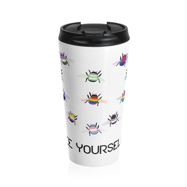 Bee Yourself Stainless Steel Travel Mug - Ninja Ferret