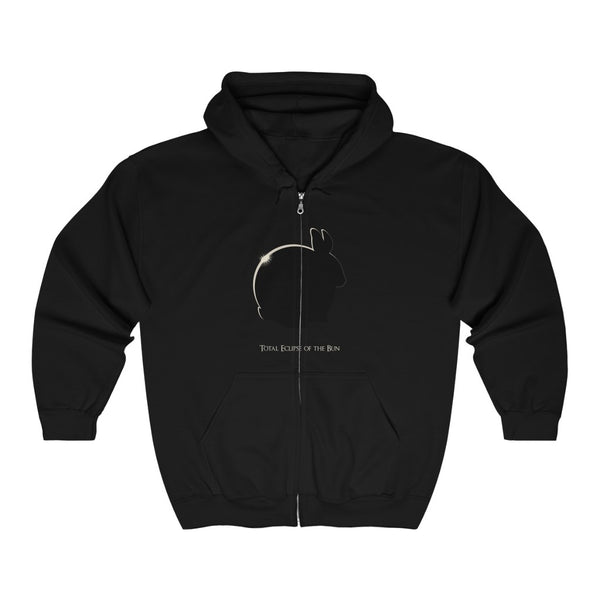 Total Eclipse of the Bun Unisex Heavy Blend™ Full Zip Hooded Sweatshirt - Ninja Ferret