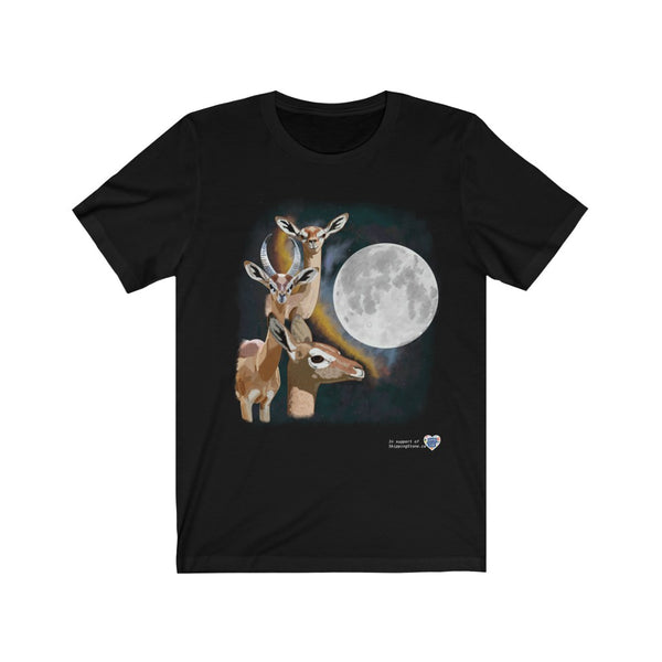 Three Gerenuk Moon Unisex Jersey Short Sleeve Tee - Ninja Ferret