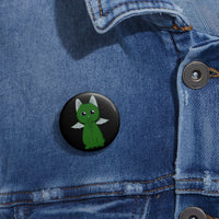 Cathulu Pin Buttons - Ninja Ferret