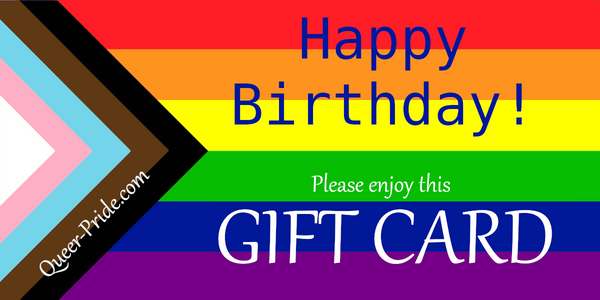 Happy Birthday Rainbow Gift Card - Ninja Ferret