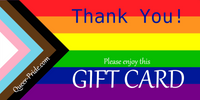 Thank You Rainbow Gift Card - Ninja Ferret