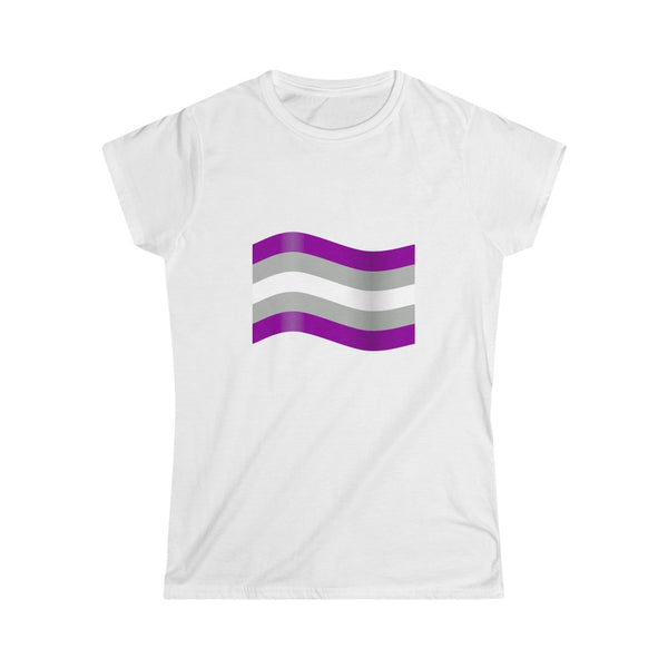 Greysexual Pride Flag Fitted Softstyle Tee - Ninja Ferret