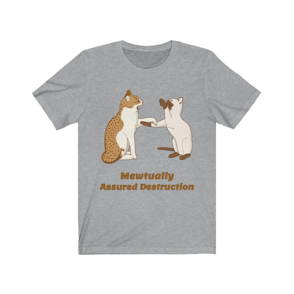 Mewtually Assured Destruction Unisex Jersey Short Sleeve Tee - Ninja Ferret
