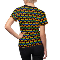 Heart of Hearts Fitted Tee - Rainbow/Black - Ninja Ferret