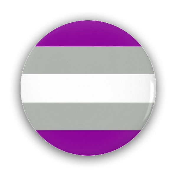 Greysexual Pride Flag Pin-Back Buttons - Ninja Ferret