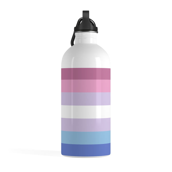 Bigender Pride Stainless Steel Water Bottle - Ninja Ferret