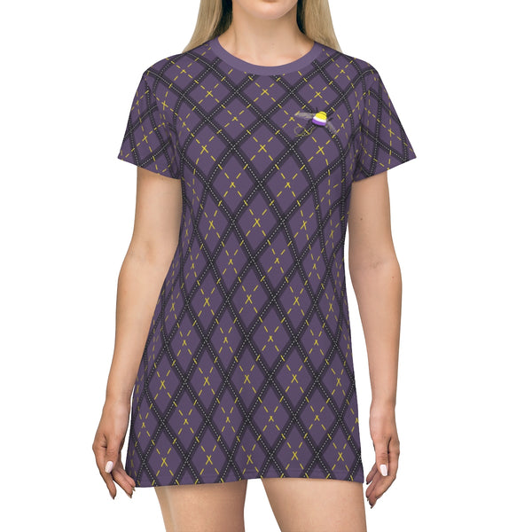 Nonbeenary Argyle T-shirt Dress - Ninja Ferret