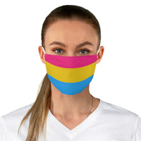 Pansexual Pride Fabric Face Mask - Ninja Ferret