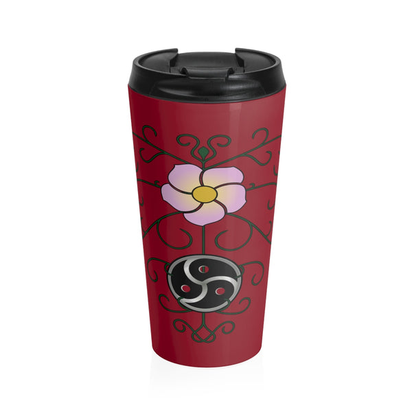 Wild Rose and Vine BDSM - Stainless Steel Travel Mug - Ninja Ferret