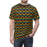 Heart of Hearts Unisex Tee - Rainbow/Black - Ninja Ferret