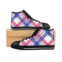 Bumble Bi Plaid Men's High-top Sneakers - Ninja Ferret
