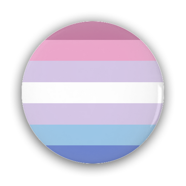 Bigender Pride Flag Pin-Back Buttons - Ninja Ferret