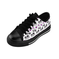Heart of Hearts Men's Sneakers - Asexual/White - Ninja Ferret